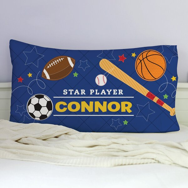 Kirts Star Player Personalized Pillowcase by Zoomie Kids