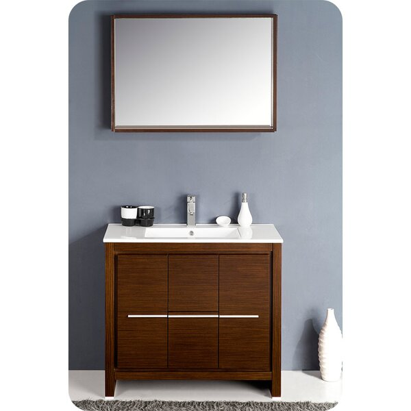 Allier 36 Single Bathroom Vanity Set with Mirror by Fresca