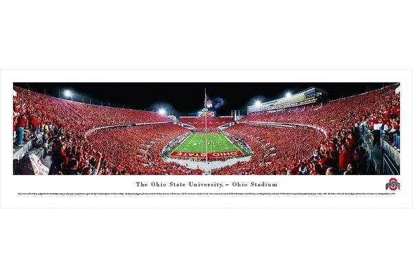 NCAA Ohio State University - Football - End Zone Photographic Print by Blakeway Worldwide Panoramas, Inc