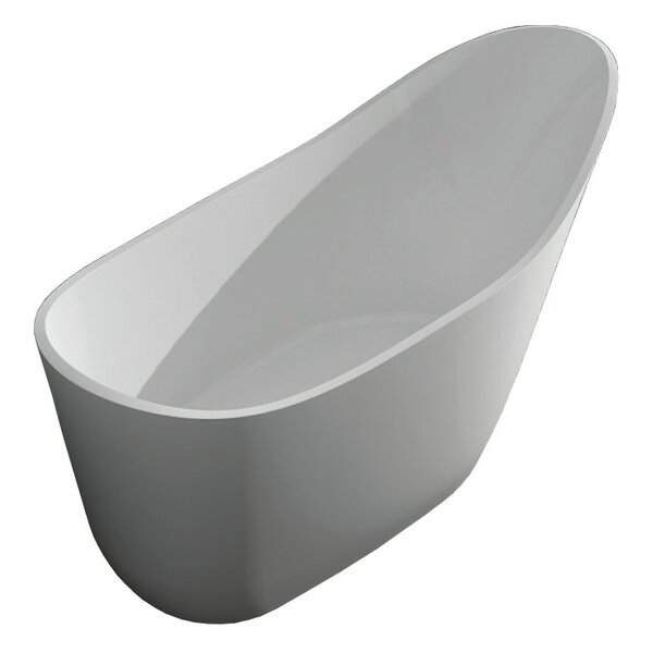 Vermillion 67 x 30 Freestanding Soaking Bathtub by Transolid