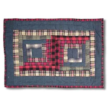 Red Log Cabin Placemat (Set of 4) by Patch Magic