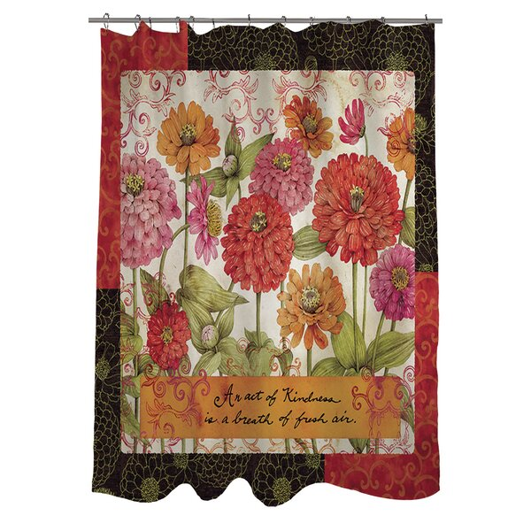 Zinnia Shower Curtain by Manual Woodworkers & Weavers