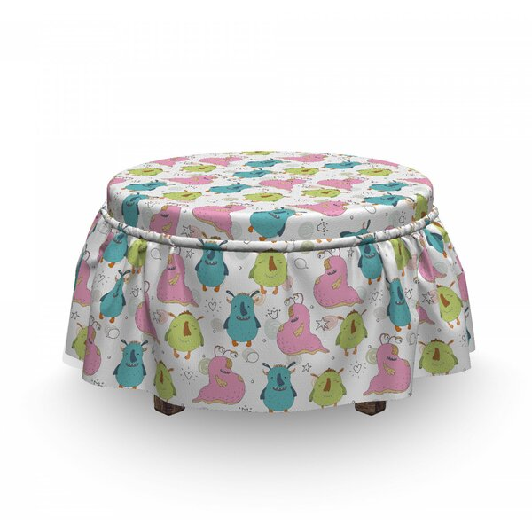 Smiling Characters Ottoman Slipcover (Set Of 2) By East Urban Home