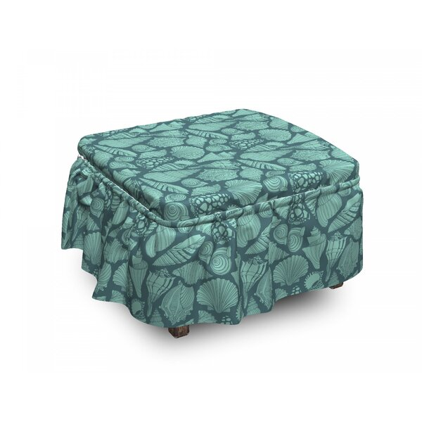 Marine Concept Elements Ottoman Slipcover (Set Of 2) By East Urban Home