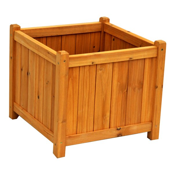 Wood Planter Box by Leisure Season