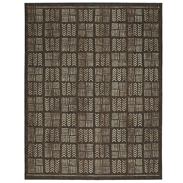 Sorensen Black/Beige Area Rug by World Menagerie