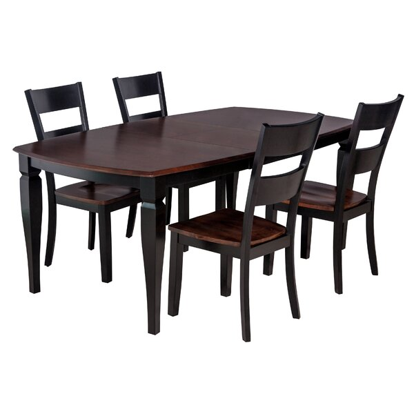 Victoria 5 Piece Solid Wood Dining Set by TTP Furnish