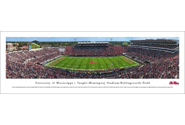 NCAA Mississippi Football Photographic Print by Blakeway Worldwide Panoramas, Inc