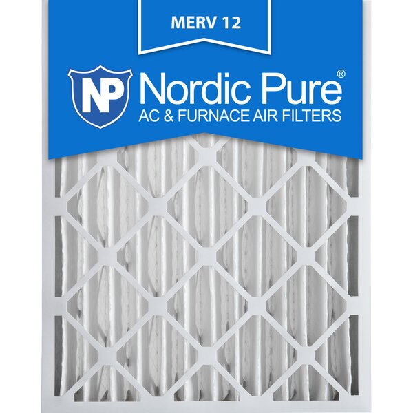 Merv 12 Allergen Pleated Air Conditioner/Furnace Filter (Set of 2) by Nordic Pure