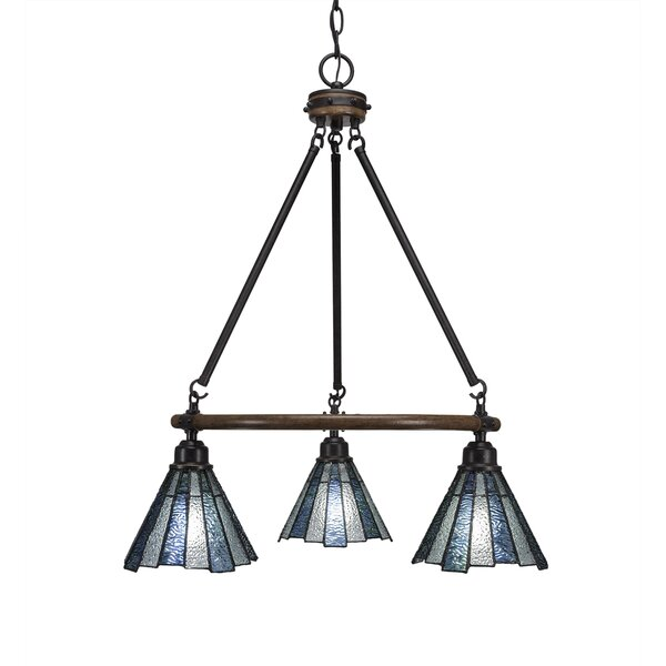 Pujari 3 - Light Shaded Wagon Wheel Chandelier by Loon Peak Loon Peak