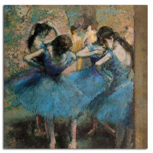 Dancers in Blue, 1890 by Edgar Degas Painting Print on Wrapped Canvas by Trademark Fine Art