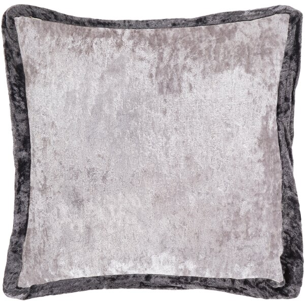 Cyber Crushed Velvet Throw Pillow by Surya