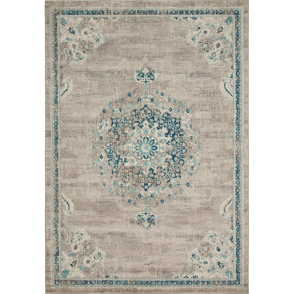Ernst Gray/Green Area Rug by Bungalow Rose