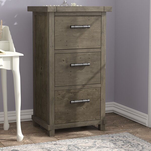 Gertrude 3-Drawer Vertical Filing Cabinet by Lark Manor