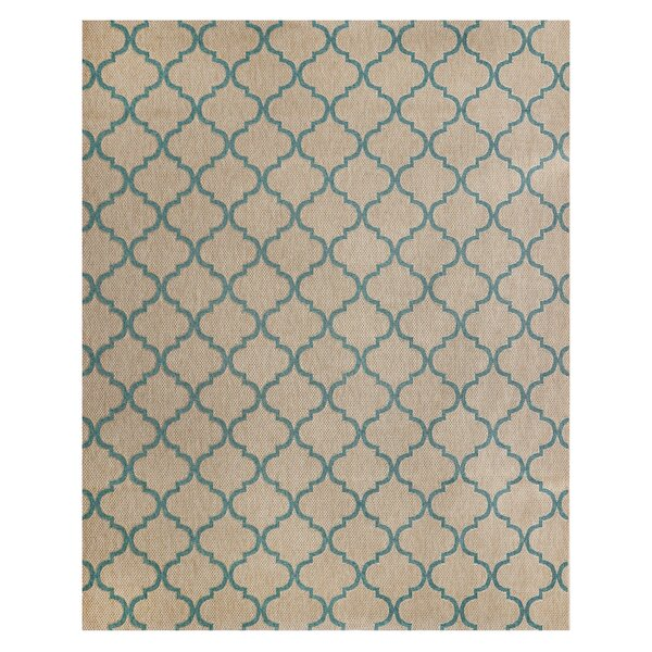 Hastings Beige/Turquoise Indoor/Outdoor Area Rug by Studio by Brown Jordan