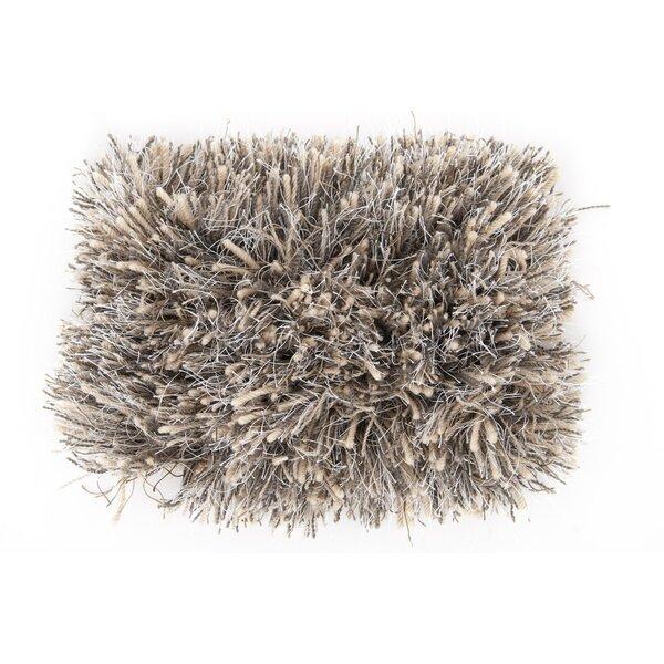 Loyce Hand Woven Wool Black Area Rug by Ebern Designs