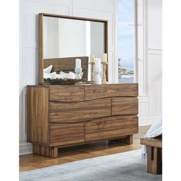Boyden Wave Front Wooden 3 Drawer Double Dresser By Foundry Select
