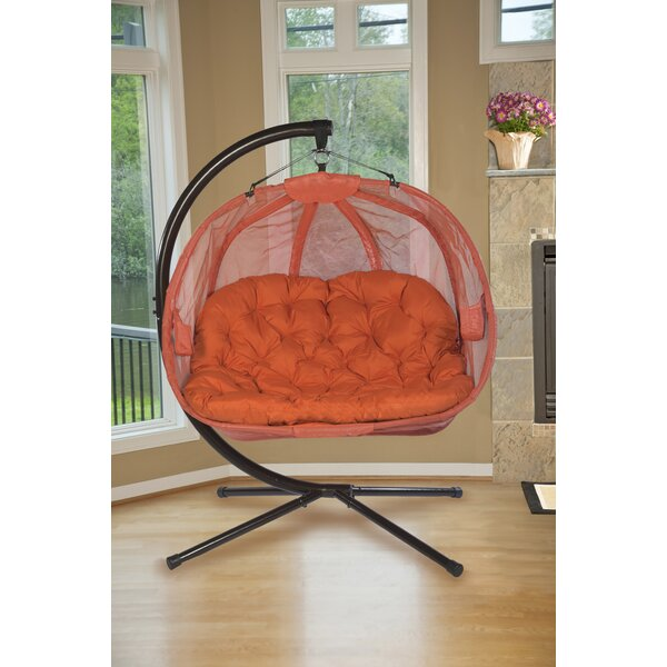 Furkan Pumpkin Double Swing Chair With Stand By Orren Ellis