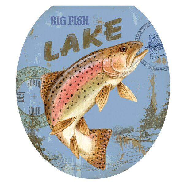Lake Fishing Toilet Seat Decal by Toilet Tattoos
