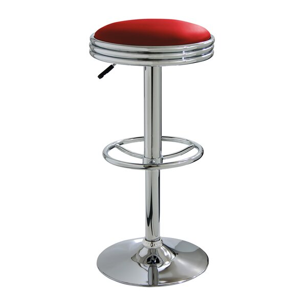 Zariah Adjustable Height Swivel Bar Stool by Ebern Designs