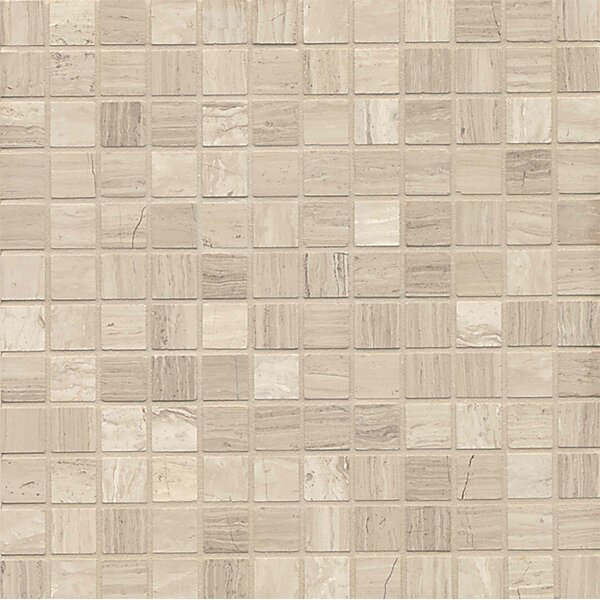 Maison 1 x 1 Marble Mosaic Tile in Ashen Grey by Bedrosians