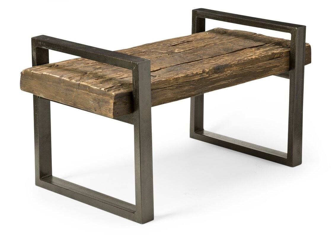 Reclaimed Wood And Iron Outdoor Garden Bench