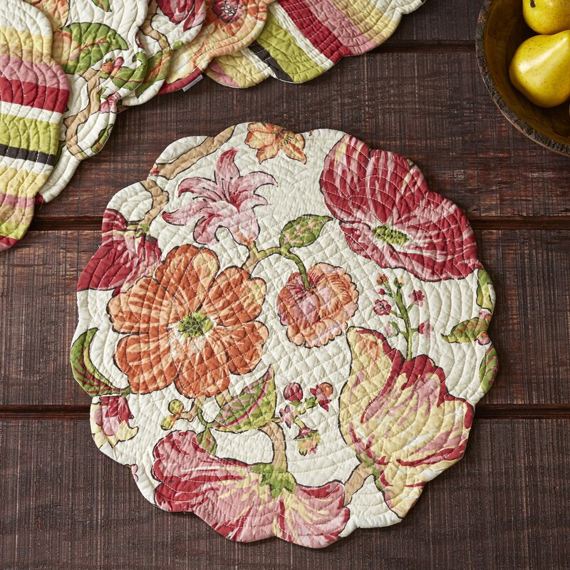 Stanmore Round Quilted Placemats & Reviews   Birch Lane : quilted placemats - Adamdwight.com