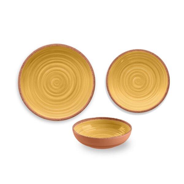 Rustic Swirl Melamine 12 Piece Dinnerware Set, Service for 4 by TarHong