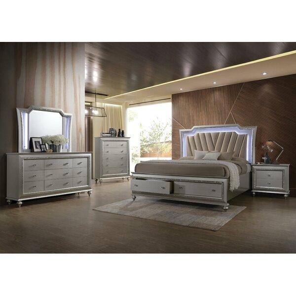 Kaitlyn 9 Drawer Standard Dresser with Mirror by SunCityElegantLiving