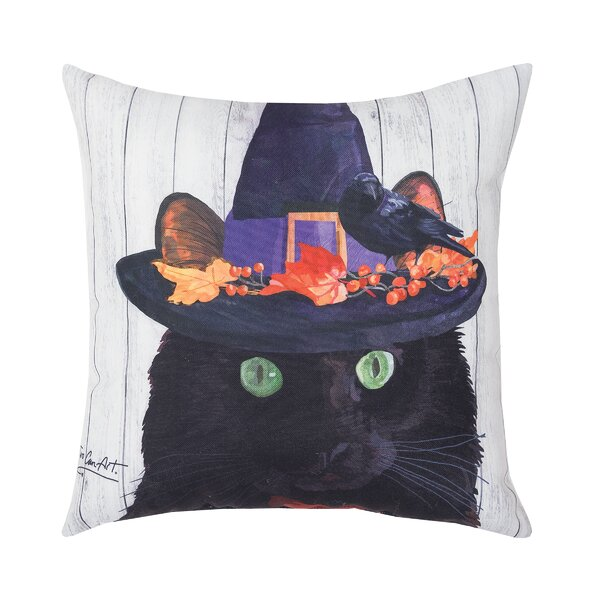 Fergerson Black Cat Indoor/Outdoor Throw Pillow by The Holiday Aisle