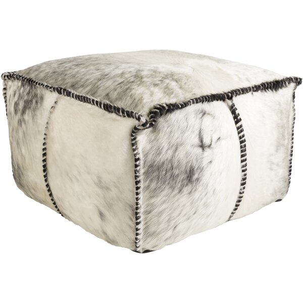 Campion Leather Pouf by Loon Peak