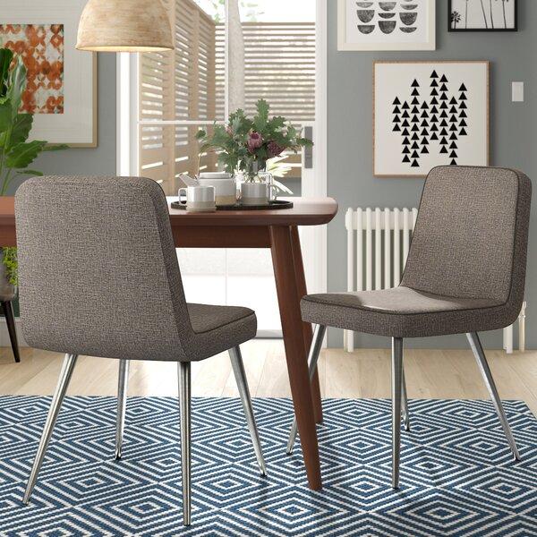 Jaylee Upholstered Upholstered Solid Back Side Chair (Set of 2) by Wade Logan Wade Logan