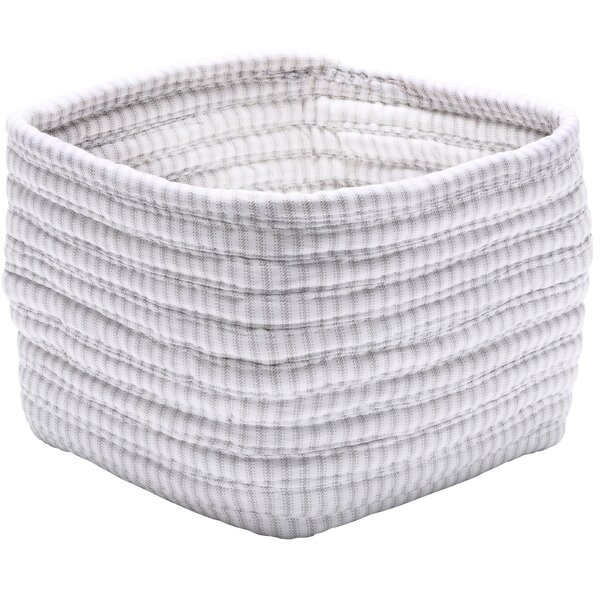 Ticking Shelf Square Basket by Colonial Mills