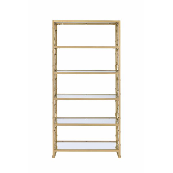 Girton Geometric Etagere Bookcase by Everly Quinn