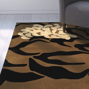 Clearance Woodburn Hand-Tufted Brown/Black Area Rug By Latitude Run
