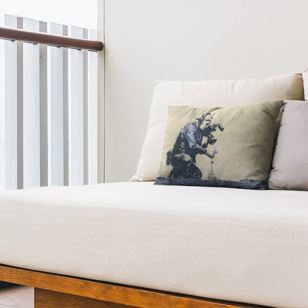 Cameraman and Flower Indoor / Outdoor 14 Lumbar Pillow