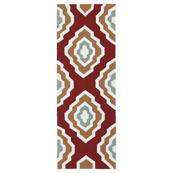 Alpine Bay Hand-Tufted Red Indoor/Outdoor Area Rug by Zipcode Design