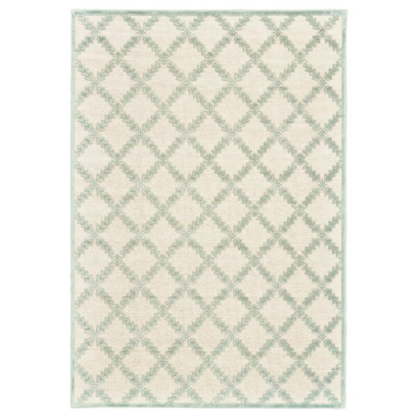 Prioleau Cream/Mint Area Rug by Lark Manor