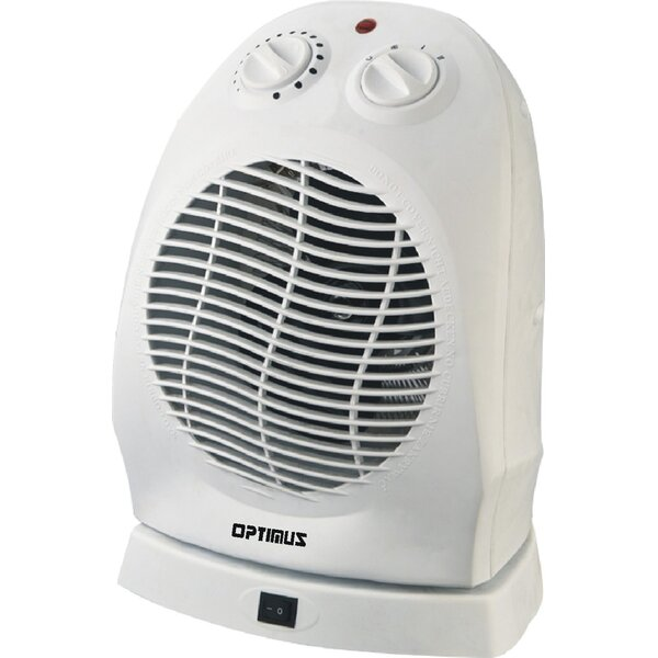 1,500 Watt Portable Electric Fan Compact Heater with Thermostat by Optimus