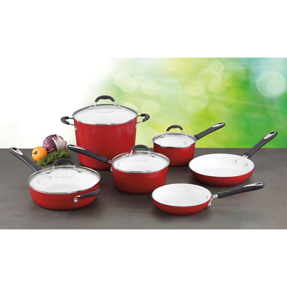 Cuisinart Elements 10 Piece Non-Stick Ceramic Cookware Set ...