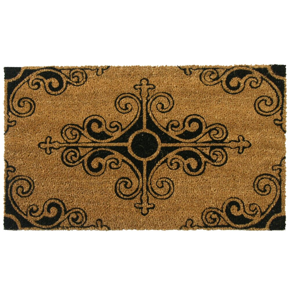 Rubber cal inc traditional fleur de lis french doormat reviews - Fleur de lis doormat ...
