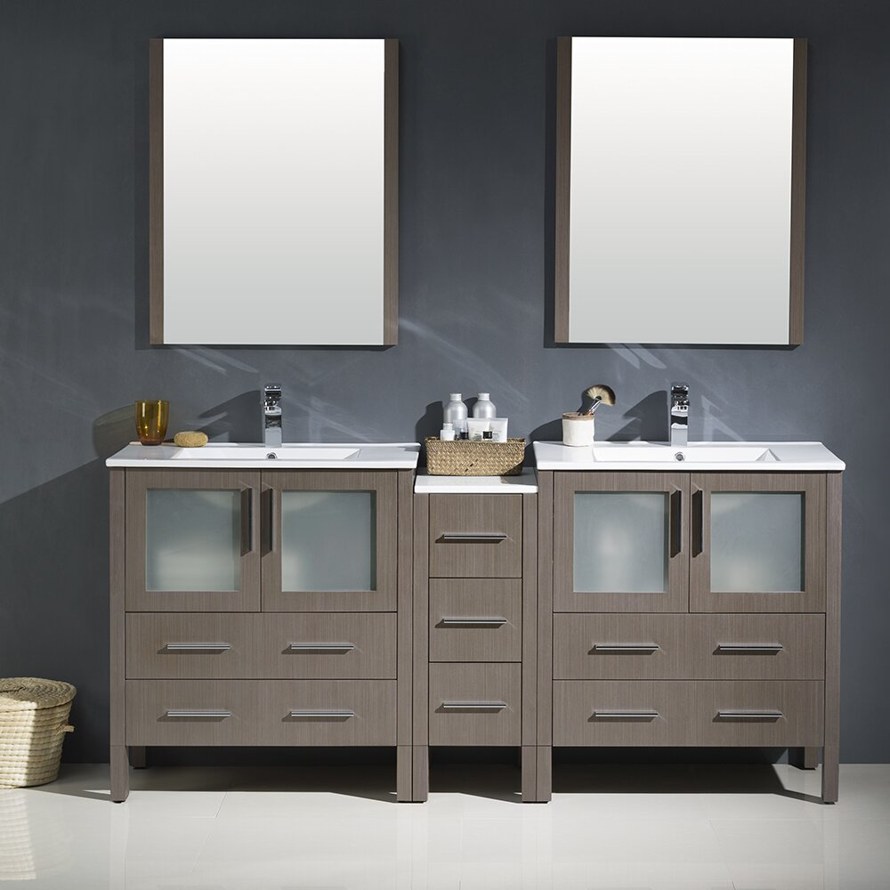 Fresca Torino 72 Double Modern Bathroom Vanity Set With