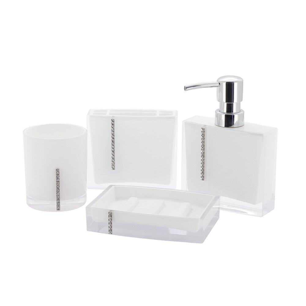 Kingston brass reef 4 piece bathroom accessory set for Bathroom accessory kit