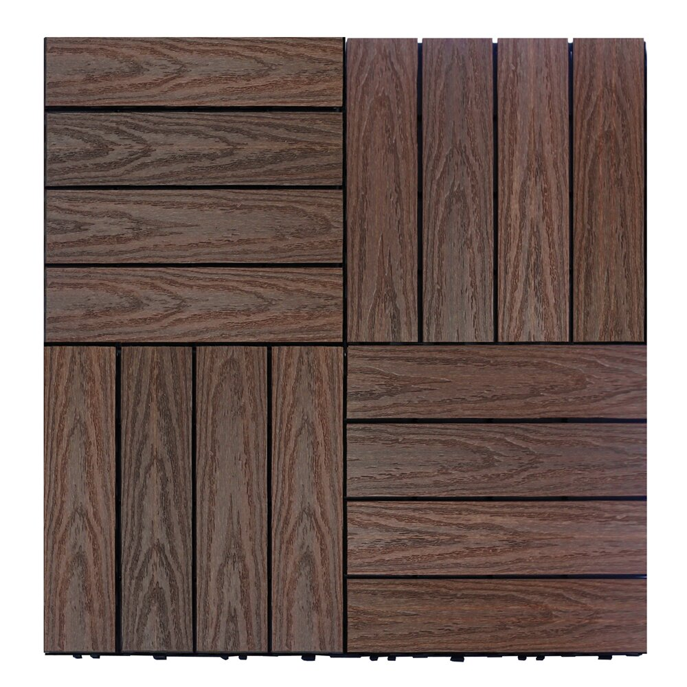 newtechwood naturale composite 12 x 12 interlocking deck tiles in california redwood reviews. Black Bedroom Furniture Sets. Home Design Ideas
