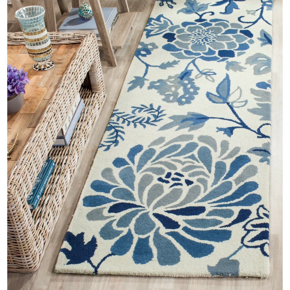 Martha Stewart Rugs Martha Stewart Hand Tufted Azurite Area Rug Reviews Wayfair