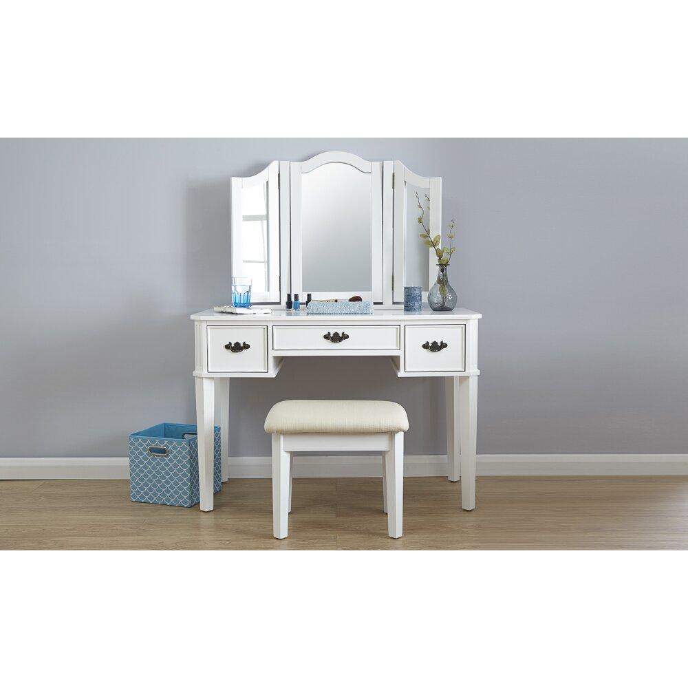 mercer41 schminktisch set burton mit spiegel bewertungen. Black Bedroom Furniture Sets. Home Design Ideas