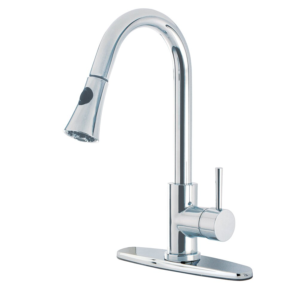 Kingston Brass Concord Gourmetier Single Handle Kitchen Faucet With Pull Down Spout Reviews