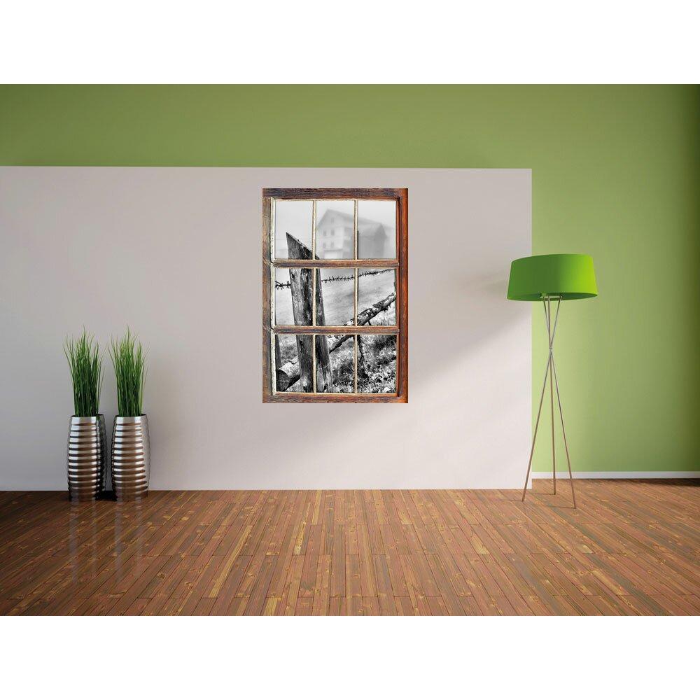 home loft concept wandtattoo rustikaler holzzaun auf wiese. Black Bedroom Furniture Sets. Home Design Ideas