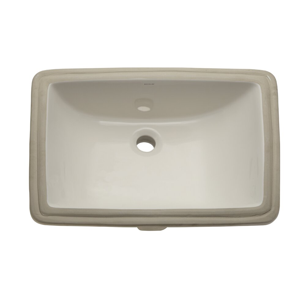 Classic Rectangular Undermount Bathroom Sink With Overflow Reviews Allmodern