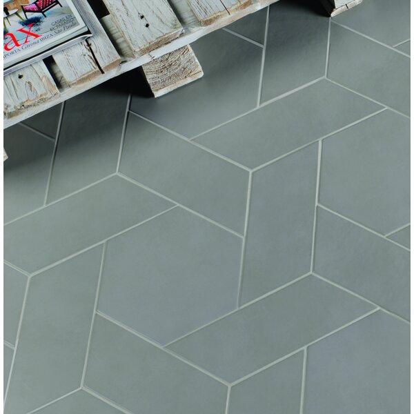 Cement Series 4 x 10 Porcelain Field Tile in Grey by Walkon Tile